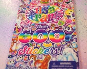 Mega Lisa Frank Stickers Booklet Over 600 Stickers // Lisa Frank Stickers Book / Lisa Frank Sticker Set Pastel Goth 90s Kid Rainbow Stickers