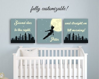 peter pan nursery decor peter pan decor kids room decor baby boy room