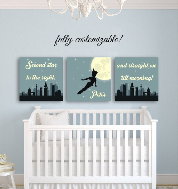 Peter pan nursery decor peter pan decor kids room decor for Baby nursery wall decoration
