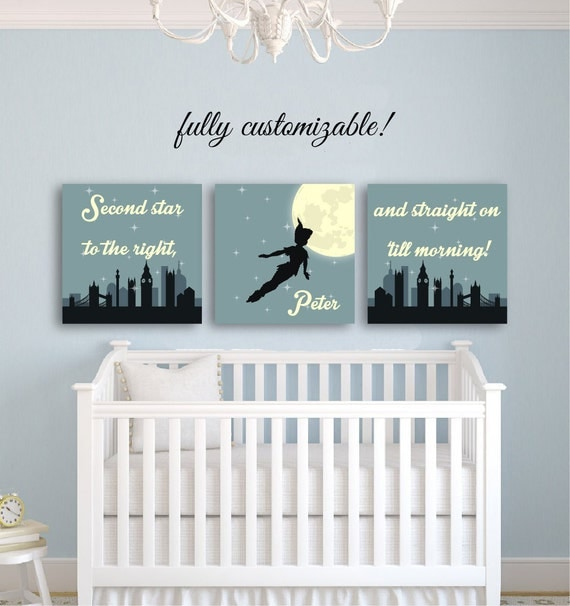 Peter pan nursery decor peter pan decor kids room decor for Baby wall decoration ideas