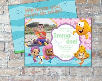 Girl's Bubble Guppies Birthday Invite {Digital Item}