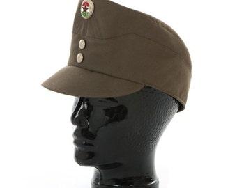 New Unissued Soviet Era Hungarian army cadet cap hat communist socialist military olive