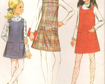Vintage McCall's 9395 *Girls' JUMPER and BLOUSE* Girls' Size 8