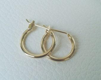Hoop earrings, Gold hoop earrings, Small hoop earrings, Gold hoops, Small gold hoops, Gold hoops, Gold filled hoop earrings, Christmas gift