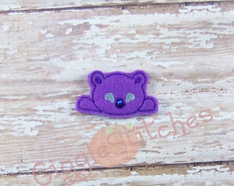 Zombie Bear Feltie Embroidery Design