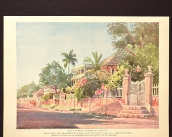 Tropical Wall Art Jamaican Wall Decor Caribbean Landscape