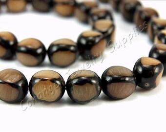 Buri Nut Beads, 5 pcs Buri Seed Beads, (13mm x 11mm) Natural Buri Beads, Buri Palm Natural Beads, Buri Barrel Beads, Nut Beads, Buri Beads