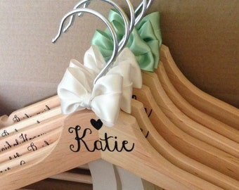 UK seller: Wedding Coathanger for bride and bridesmaids
