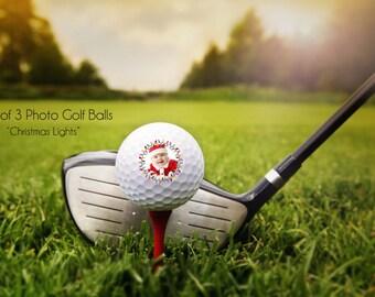 PHOTO golf ball - custom photo golf balls - Christmas gift - personalized golf balls - your photo golf balls, set of 3 custom golf balls