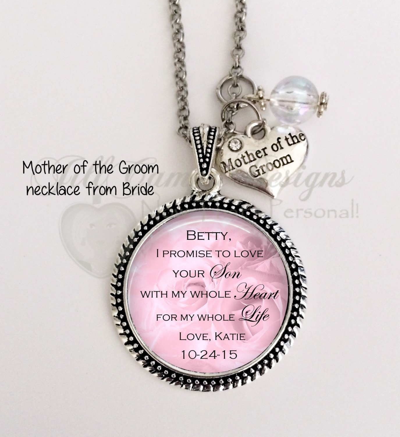 Mother Of The Groom Gift From Bride Pink I Promise