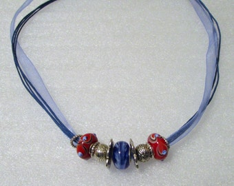 901 - Blue Beaded Necklace