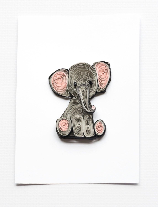 Elephant nursery art print nursery decor kids wall art for Elephant wall art