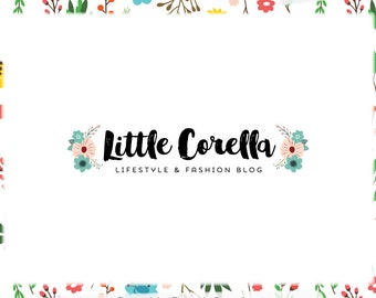 Premade Blog Header or Logo Design - Web and Print - Limited Edition! Perfect For Blogger, Boutique, Photographer, Florist, Small Business