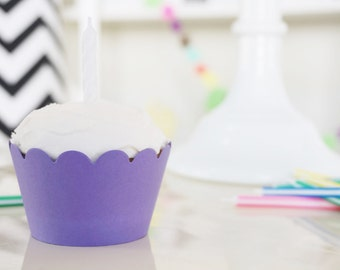 VIOLET Cupcake Wrappers - Set of 24