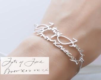 30% OFF! Signature Bracelet in Sterling Silver • Handwriting Keepsake Bracelet • Personalized Gift • Grandma Gift • MOTHER'S GIFT • BH01