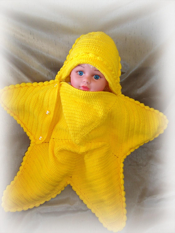 capullo a estrellas de mar manta del beb reci n nacido. Black Bedroom Furniture Sets. Home Design Ideas
