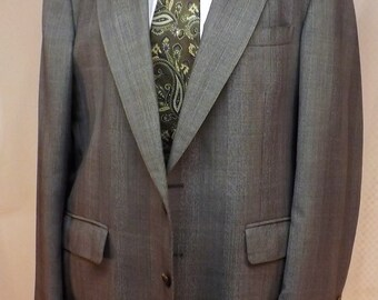 Vintage Mens Gray Glen Plaid Wool 2 pc Suit Size 42 by Cricketeer