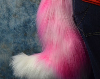 Bubble Gum Fox Tail
