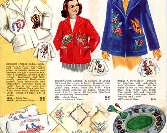Aunt Ellen's Needlework Book 1950-1951 (craft catalog) | Vintage Craft Ephemera