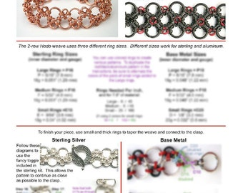 Chainmaille Tutorial - Hodo Bracelet (Intermediate) - PDF