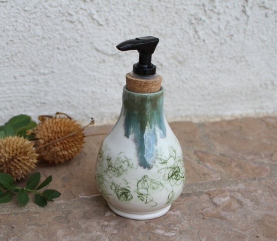 Soap dispenser handmade ceramic soap dish pottery bathroom - Ceramic soap dishes for bathrooms ...