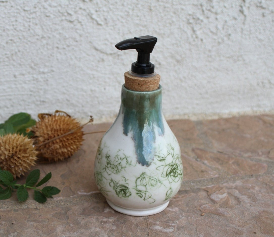 Soap Dispenser Handmade Ceramic Soap Dish Pottery Bathroom