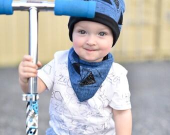 BALANCE 30%, spring for child, boy, blue toque toque toque, Creations Zö