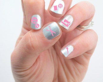 Sewing Vinyl Nail Decals, Crafter, Buttons, Sewing Machine