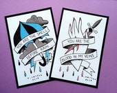 Brand New Tattoo Flash Print Set by Michelle Coffee