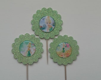 Tinkerbell Cupcake Toppers, Tinkerbell Fairy Cupcake Toppers, Tink Cupcake Toppers, Fairy  Cupcake Toppers, Fairy, Tinkerbell Theme Party