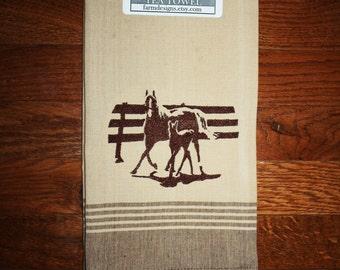 Colts towels etsy Horse design kitchen accessories