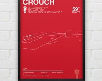 Stoke City - Peter Crouch vs Man City Giclee Print -- [88]