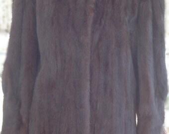 Vintage Mink Coat - Mink Fur Jacket - Mink Jacket - Rockabilly Fashion - Brown Fur Coat Vintage - Wedding Coat - Winter Coat - Gift For Her