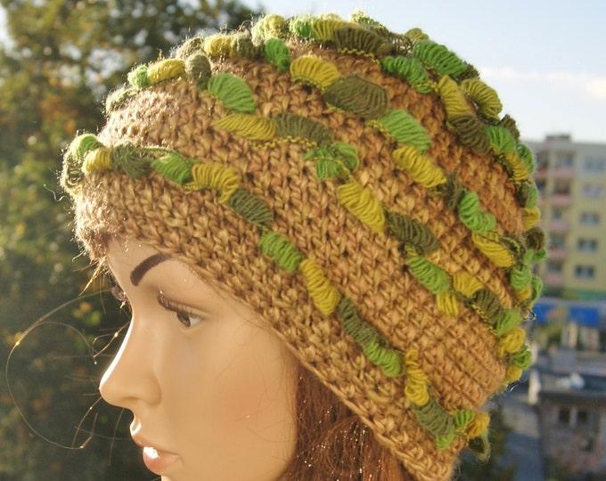 Вязание крючком осенних шляп