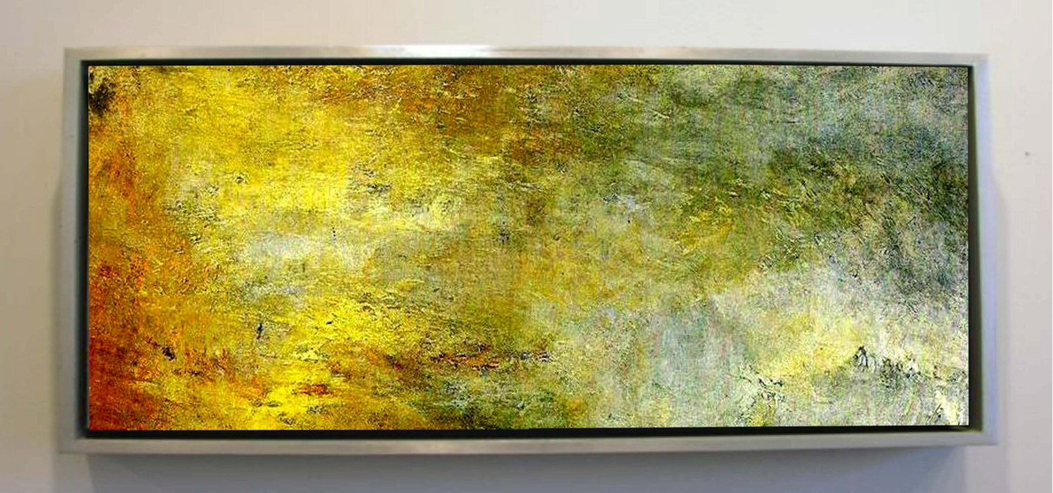 Reflection on Water, Original Extra Large Abstract Oil Painting ...