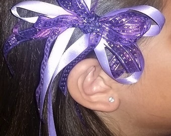 Purple Hair Bow Today's Special Was 5.00 now 3.50