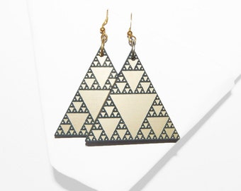 Sirpinski Triangle Earrings