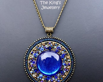 Blue Mosaic pendant