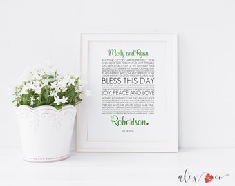 ... Irish Wedding Printable. Irish Wedding Gift. Irish Anniversary Gift