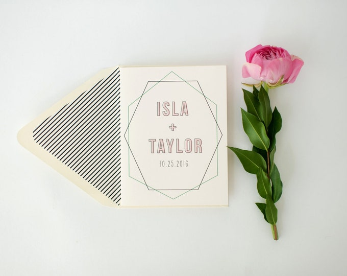 isla personalized thank you cards +  lined envelopes (sets of 10) // wedding thank you cards // lola louie paperie
