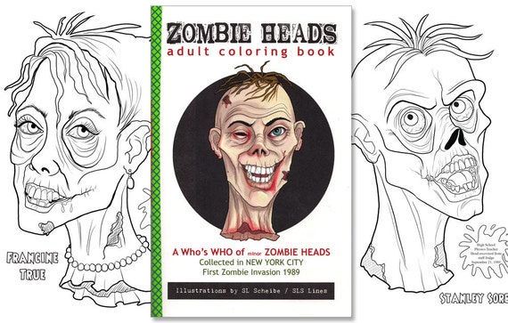 adult coloring book zombies