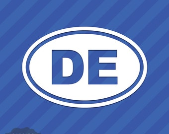 Delaware DE Oval Vinyl Decal Sticker