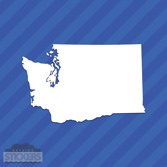 Washington Wa State Outline Vinyl Decal Sticker From Baysidestickers On Etsy Studio