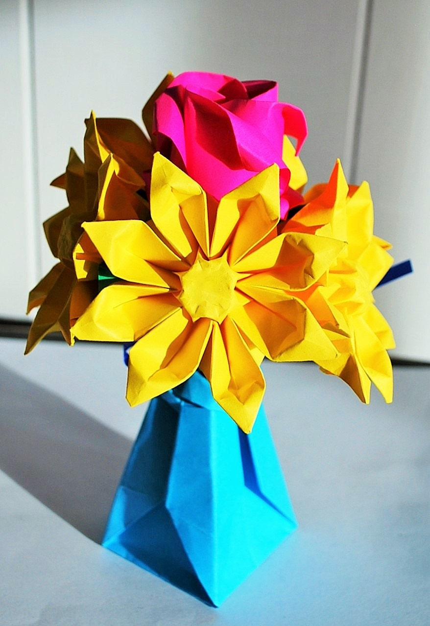 origami flowers paper flower bouquet paper flower gift