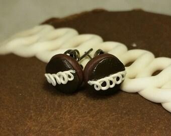 Hostess Cupcake Stud Earrings