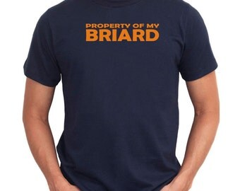 Property OF MY Briard EMBROIDERY T-Shirt
