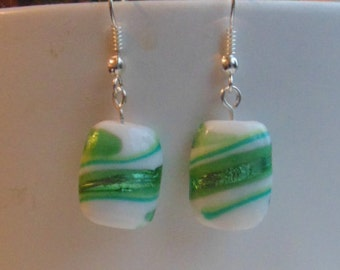 Lampwork Green Earrings - Two Designs