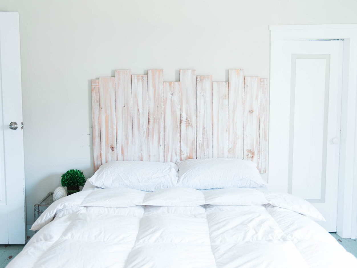 Staggered Wood Headboard Wall Art