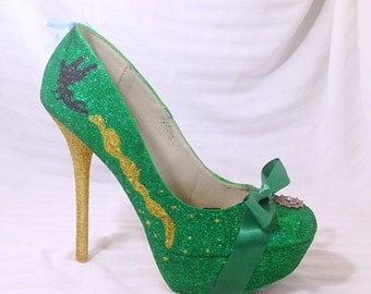 Fairy Custom Rhinestone Heels/ Wedding/ Prom/ Party/ Cosplay