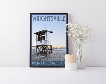 Print - Wrightsville Beach, NC  - Digital Art